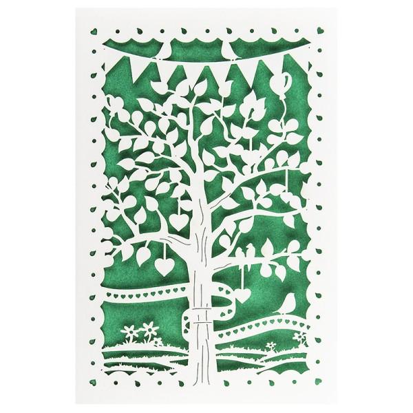 """Laser-Grußkarte """"Baum"""", B6, mit Einleger & Umschlag"""