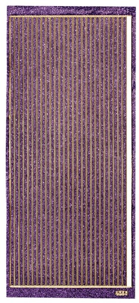 Microglitter-Sticker, Linien, 3,5mm, violett