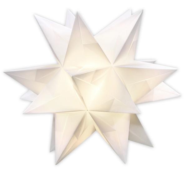 Aurelio Stern Set, transparent, 15cm x 15cm, 33 Blatt, weiß
