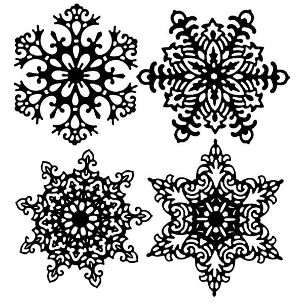 Stanzschablonen, Eiskristalle 2, 4 Stück