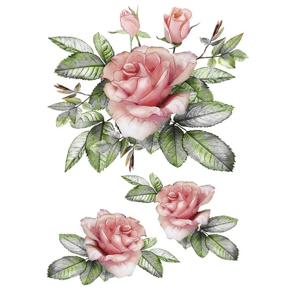 Color Bügeltransfers, DIN A4, Blumen 2