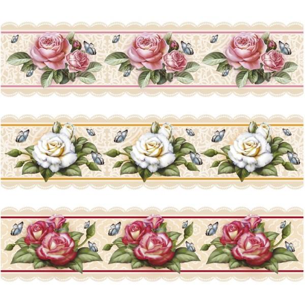 """Zauberfolien """"Rosen"""", Schrumpffolien für Ø10cm, 9 cm hoch, 6 Stück"""