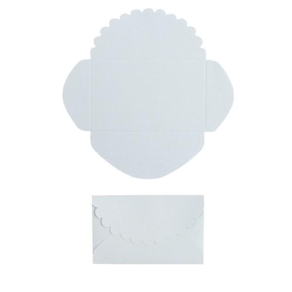 Mini-Umschläge, 4,2 x 6,6 cm, 100 Stück, blau