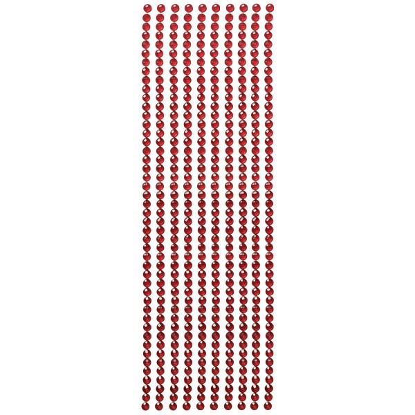 Kristall-Bordüren, selbstklebend, Ø6mm, burgund