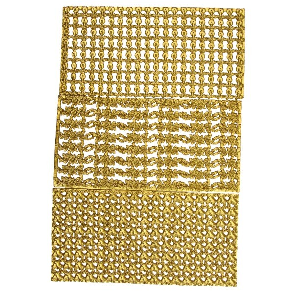Wachs-Bordüren auf Platte, weihnachtlich, metallic-gold, 24 Stück