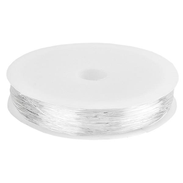 Schmuckband, elastisch, Ø 0,6mm, 20m, transparent