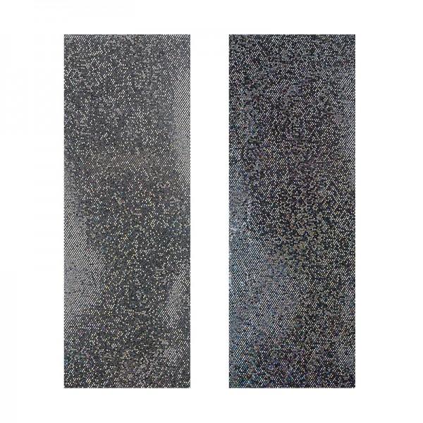 "Stoffe Royal ""Pailletten"", selbstklebend, 10 x 29 cm, 2 Stück, silber & anthrazit"