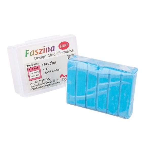 Faszina Soft, Design-Modelliermasse, hellblau, 55g, leicht formbar, ofenhärtend