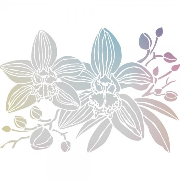 Folien-Bügeltransfer, Orchideen 1, DIN A4, silber