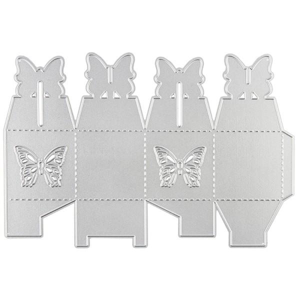 Stanzschablone, Faltbox 1, 16,3cm x 11cm, passend für gängige Stanzmaschinen