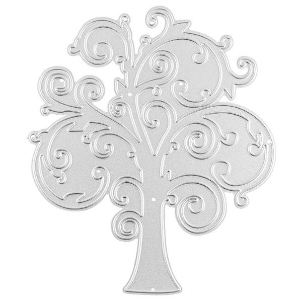 Stanzschablone, Baum, 10cm x 11,7cm, passend für gängige Stanzmaschinen