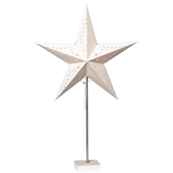 Stern-Leuchte mit Ständer, 68 cm