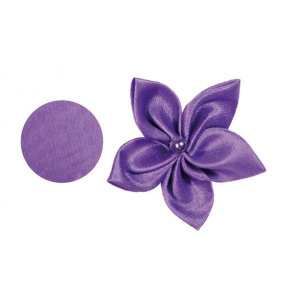 Satin-Stanzform, rund, Ø6cm, 50 Stück, violett
