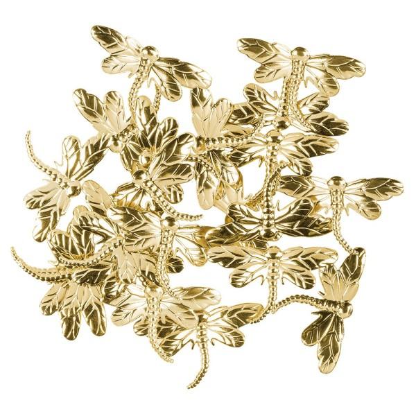 Messing Ornamente, Libelle, 20 Stück