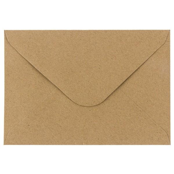 Umschläge, Kraftpapier, DIN B6 (12,5cm x 17,5cm), 110 g/m², 100 Stück