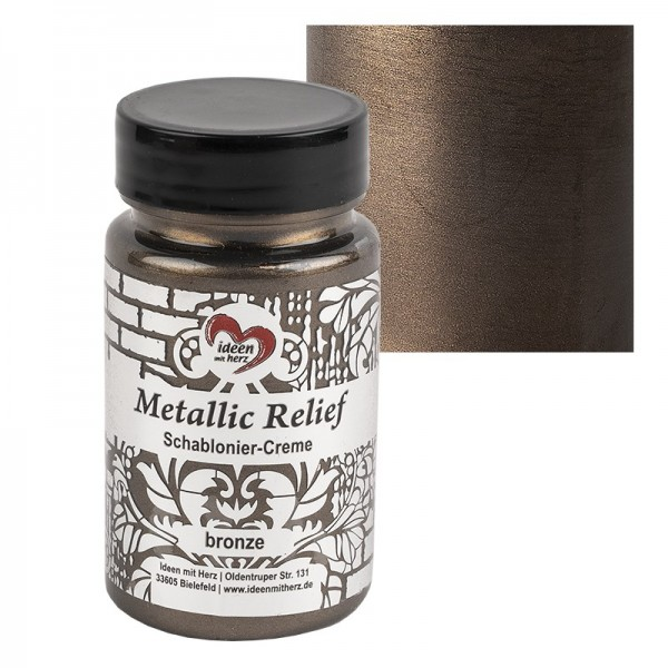 Metallic Relief, Schablonier-Creme, bronze, 90ml