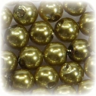 Perlen, rund, Ø6 mm, gold, 50 Stück