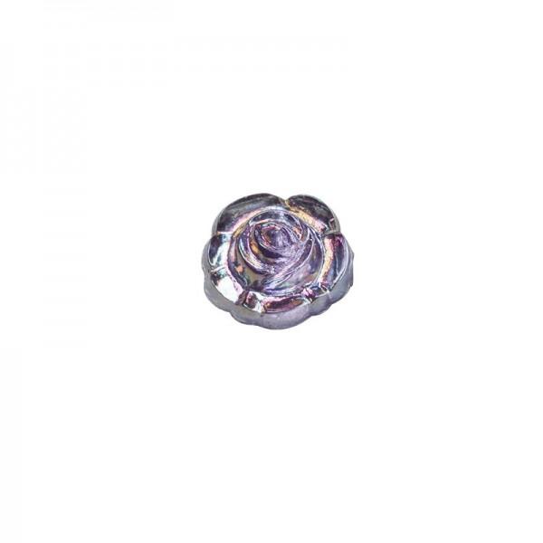 Glitzersteine, Rosen, Ø0,7cm, 100 Stück, violett