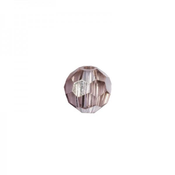 Glas-Perlen, transparent, Ø6 mm, 20 Stück, rosenquarz-irisierend
