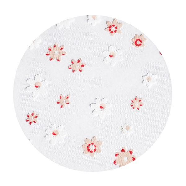 Organza-Kreise, Ø8cm, 50 Stück, Kleine Blüten, rosa/weiß