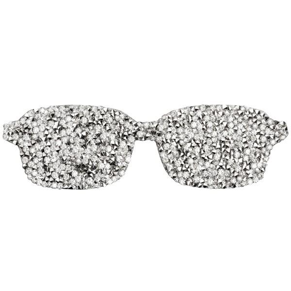 Kristall-Bügelbild, silber, 15 x 4,5 cm, Sonnenbrille