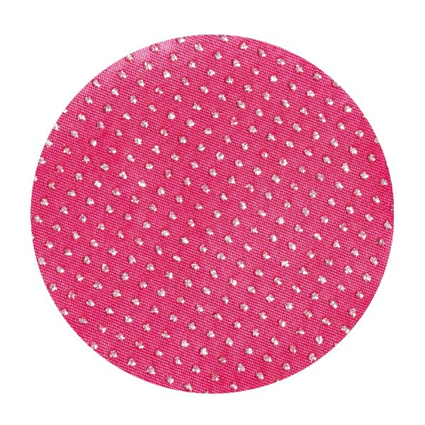 Satin-Kreise, 8cm, 50 Stück, Glitzer-Perlen, fuchsia
