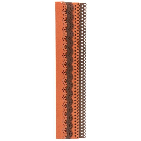 Folia Filzbordüren, terra & braun, 30cm, 4 Stück