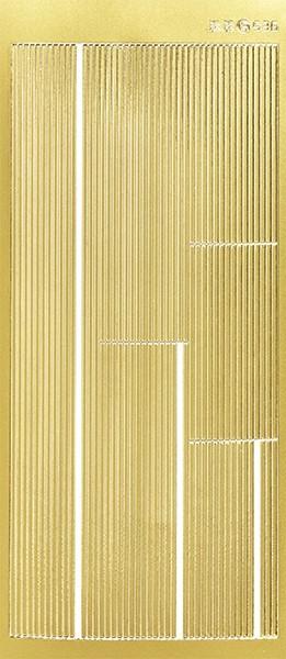 Sticker, Linien, Perlmuttfolie, gold