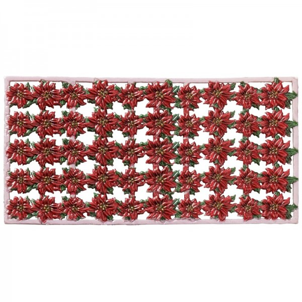 Wachs-Bordüren auf Platte, Weihnachtsstern, 19,5 x 2 cm, 5 Stück