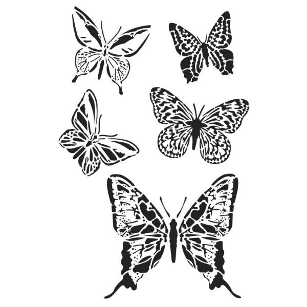 Laser-Kunststoff-Schablone, DIN A4, Schmetterlinge