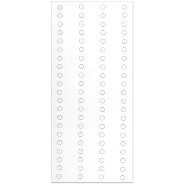 Waben-Klebedots, doppelseitig klebend, flach, transparent, Ø 4mm, 6 Bogen, 500 Stück