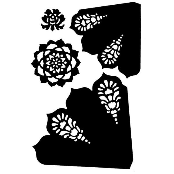 Stanzschablonen, Faltblumen, 4 Stück