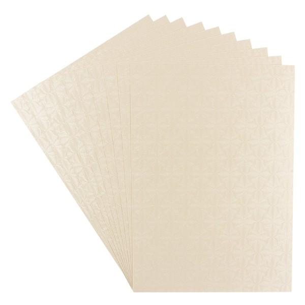 Perlmuttglanz-Karton, 2-seitig, DIN A5, 10 Bogen, creme