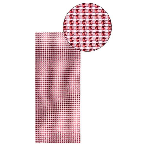 Schmuck-Netz, selbstklebend, 12cm x 30cm, rot