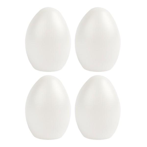Deko-Eier, Ø 6,1cm, 8cm hoch, transluzent, weiß, 4 Stück