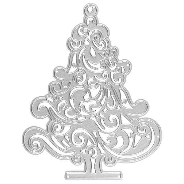 Stanzschablone, Tannenbaum, 11cm x 8,7cm, passend für gängige Stanzmaschinen
