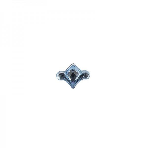 Ornament-Glitzersteine, 50 Stück, Design 8, hellblau