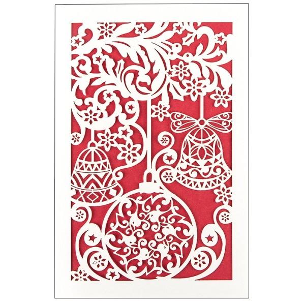 """Laser-Grußkarte """"Weihnachten 6"""", 12x18cm, mit Einleger & Umschlag"""