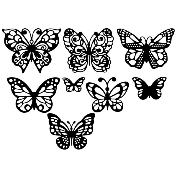 Stanzschablonen, Schmetterlinge 2, 8 Stück