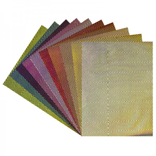 Effekt-Karton, Laserpoints, DIN A4, 200 g/m², 10 verschiedene Farben, 20 Stück