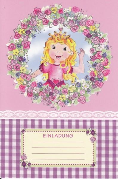Einladungskarte Prinzessin, 15 x 10 cm