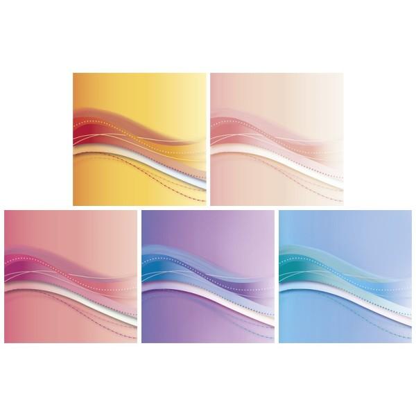 """Motiv-Grußkarten, Schwung """"Eleganz"""", 11x11cm, Umschl., 10 Stk."""