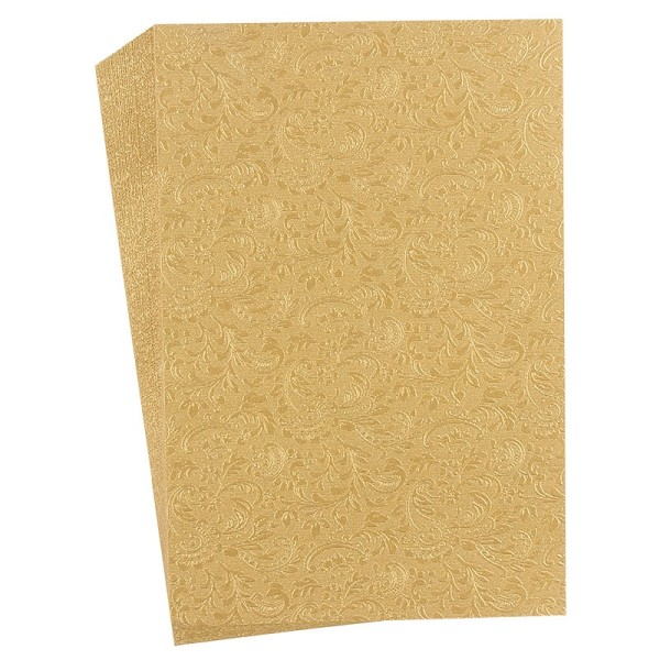 "Faltpapiere ""Nova 10"", 10x15cm, 50 Stück, hellgold"