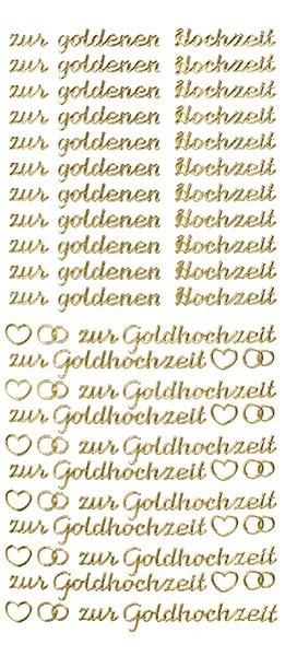 Sticker, Schrift, zur goldenen Hochzeit, gold