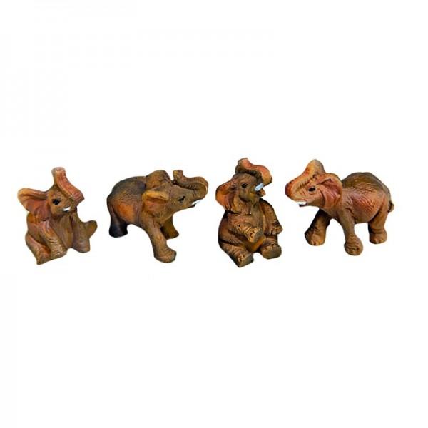 Deko-Elefant, Braun, 4 Stück