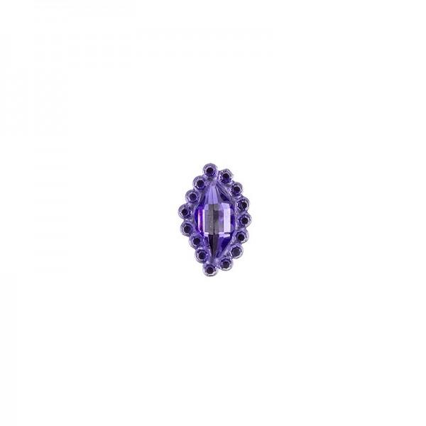 Ornament-Glitzersteine, 50 Stück, Design 7, lila