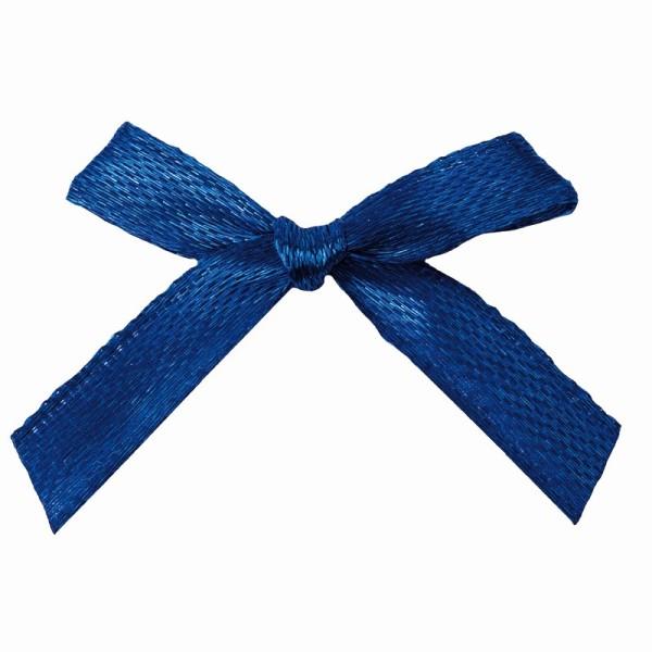 Schleifen, Satin, Bandbreite 7mm, 50 Stück, blau