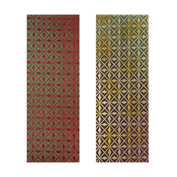 "Stoffe Royal ""Luxury"", selbstklebend, 10 x 29 cm, 2 Stück, rot/grün/gold & rot/grün"