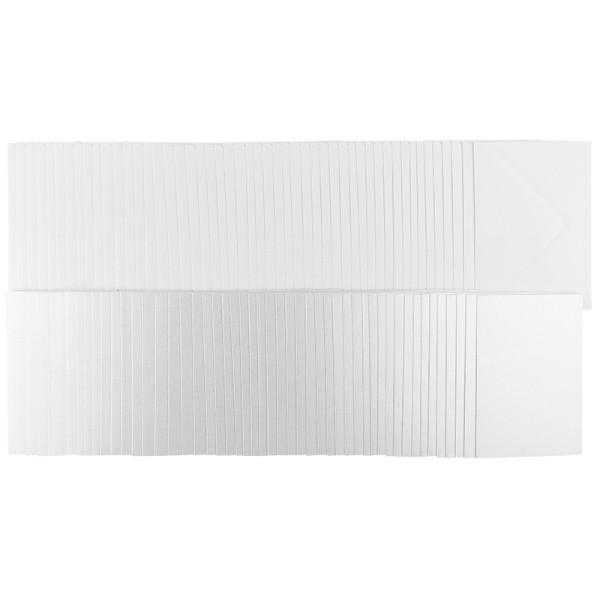 Grußkarten, Perlmutt, weiß, B6, inkl. weißer Umschläge, 50 Stück