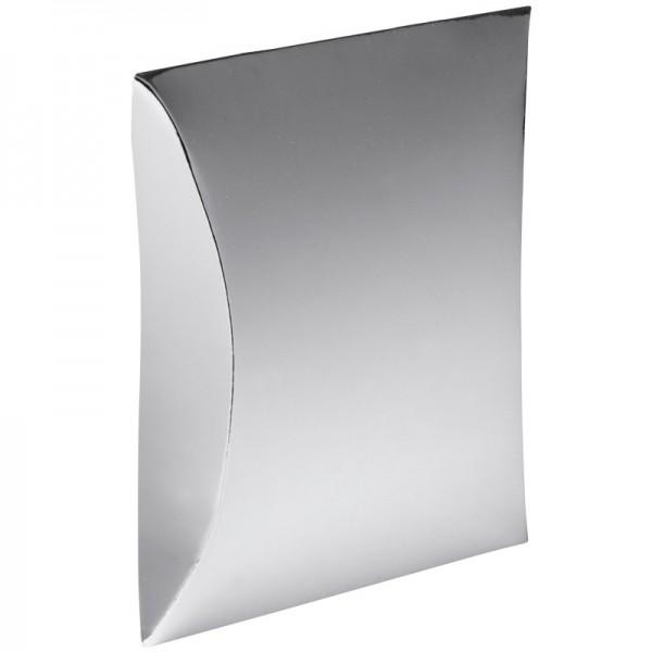 Kissentaschen, 10,4 cm x 15 cm, Spiegelkarton, silber, 10 Stück